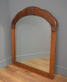 Carved Oak Antique Mirror