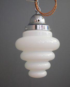 Beehive shaped Opaline Light