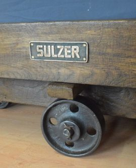 industrial mill trolley coffee table