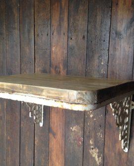 wrought iron cherub wall bracket with shelf