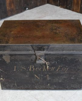 Vintage Metal Deed Box