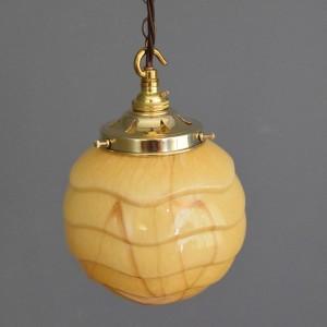 Small Art Deco Butterscotch Ball Light