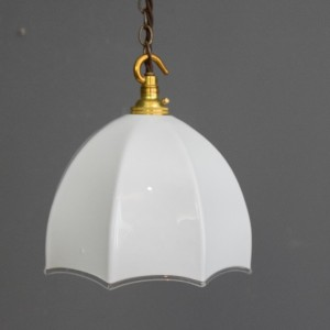 Small White Glass Light