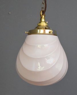 Pink Art Deco Pendant Light