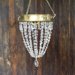 Vintage Basket Chandelier