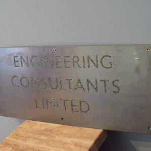 Brass Engineering Sign