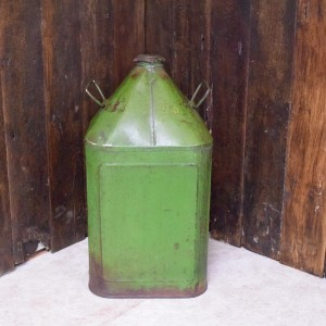 Tall Green Metal Container