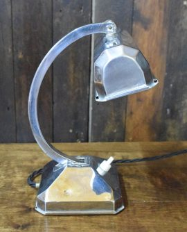 Art Deco Chrome Banker Lamp