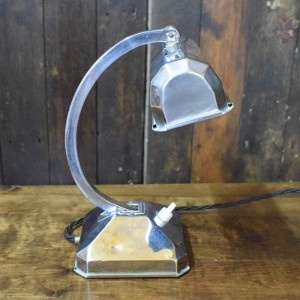 Art Deco Chrome Banker Lamp