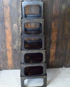 Vintage Chinese Lacquer Nest of Six Tables