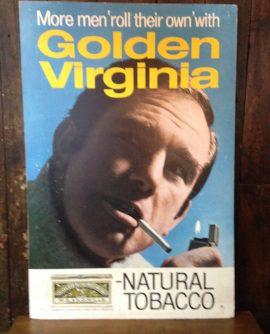 Vintage Advertising Sign - Golden Virginia Tobacco