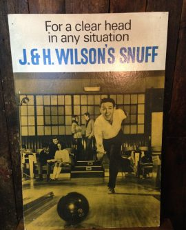 Vintage Advertising Sign - J & H Wilson's Snuff