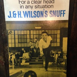 Vintage Advertising Sign - J & H Wilson's Snuff