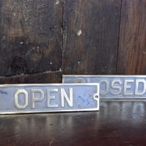 Brass Open and Closed Signs