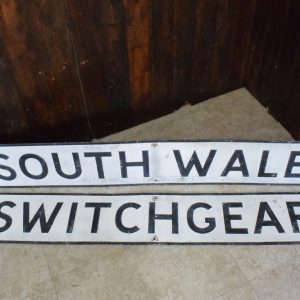 HUGE South Wales Switchgear Sign