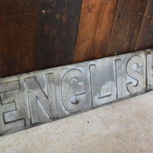 English Sign in Cast Iron