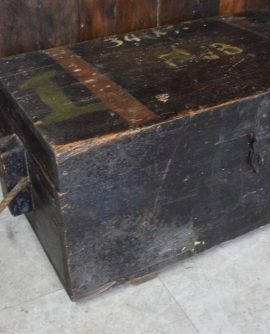 Vintage Pitch Pine Storage Chest/Trunk with Rope Handles