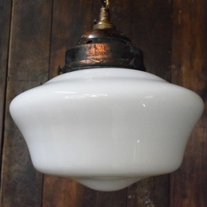 Medium White Opaline Glass Chapel Light
