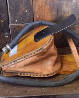 WWII Leather and Wooden Foot Pump/Bellows