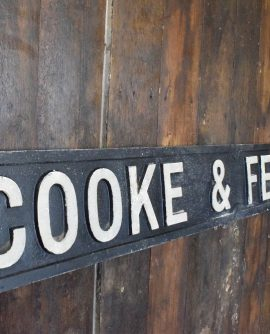 Cooke & Large Ferguson Cast Aluminium Factory Sign