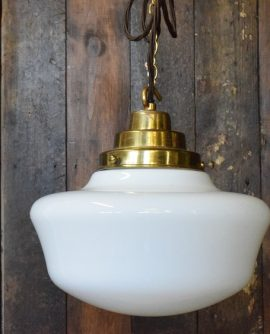 White Opaline Glass Pendant Light