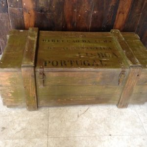 Wooden Chest - Marked Aviation Parts - Portugal
