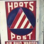 Original American WWII Air Raid Warden Sign