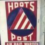 Original American WWII Air Raid Warden Sign