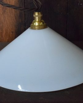 small vintage white glass coolie light