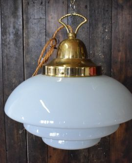 tiered opaline pendant glass light