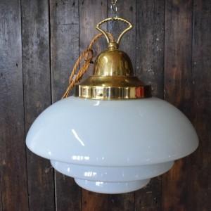 tiered opaline pendant glass light