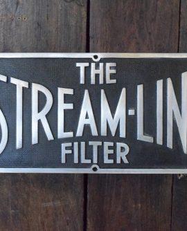 Streamline Filter Factory Sign