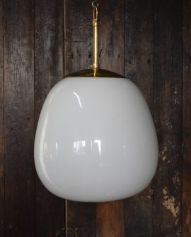 White opaline glass Tulip light