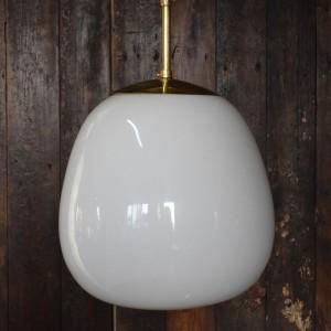 White opaline glass Tulip light