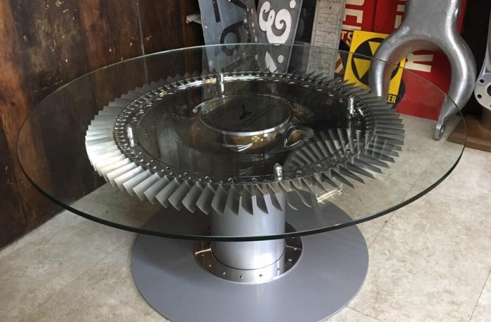 Concorde Olympus Engine Compressor Disc Coffee Table – Commissioned item
