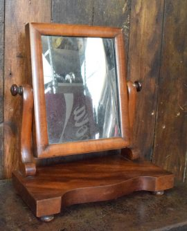 Small Antique Mahogany Dressing Table Mirror