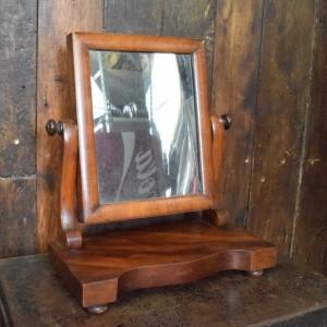 Small Antique Mahogany Dressing Table Mirror