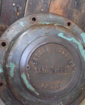 Cast Iron Pressure Vessel Cover from Escher Wyss, Zurich