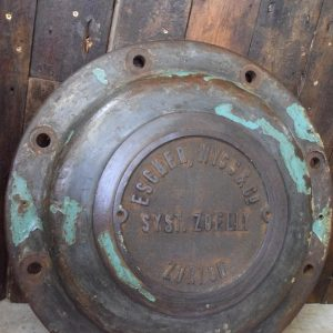 Cast Iron Pressure Vessel Cover from Escher Wyss, Zurich