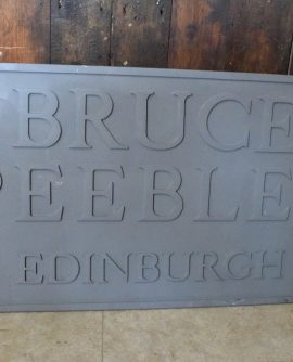 Bruce Peebles Factory Sign