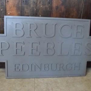 Bruce Peebles Factory Sign
