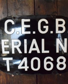 Large Enamelled finish Factory Sign from CEGB