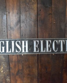 Large English Electric Chromed Brass Sign