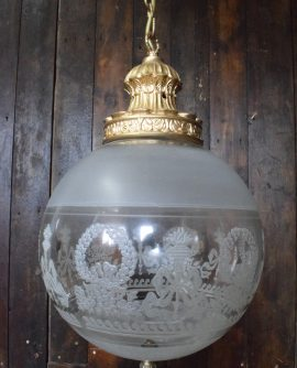 etched glass ball light