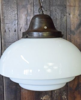 Tiered Opaline Pendant Light