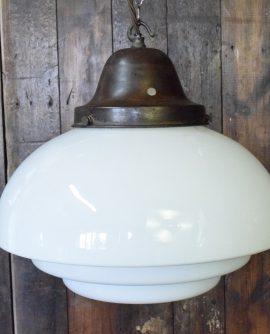 Tiered Opaline Pendant Light