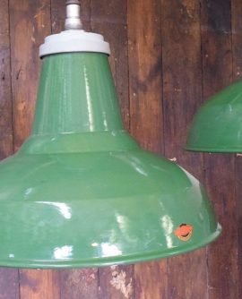 Large Green Enamelled Industrial Thorlux Pendant Light