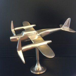 Aluminium  Aircraft Model on Stand