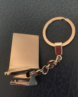 RB199 Titanium Compressor Blade Key Ring