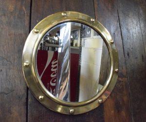 Small Brass Vintage Porthole Mirror